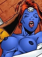 Two X-Men, Mystique and Sabertooth, going at it like sex crazed freaks!