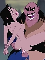 Mulan is getting raped by another bad guy! He ties her up, splits her legs apart and tears up her asshole with his huge cock!