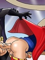Gay superheroes from Justice League plowing asses